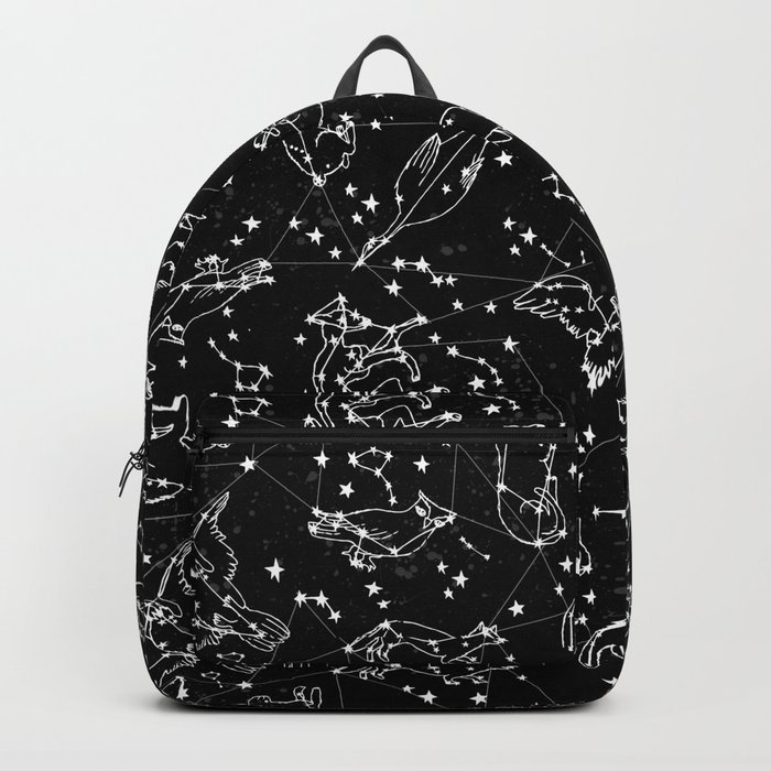 Constellations animal constellations stars outer space night sky pattern by andrea lauren black Backpack
