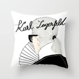 Karl Lagerfeld Throw Pillow
