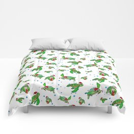 Holiday Sea Turtles Comforters