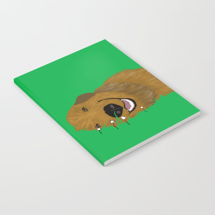 Goldendoodle in Grass Notebook