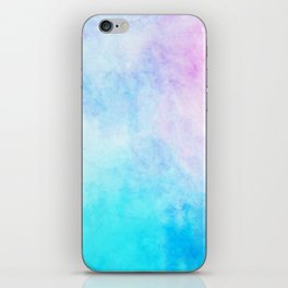 Baby Blue Pink Watercolor Texture iPhone Skin