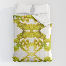 A Crazy Flow - I - Yellow and Green  Comforters