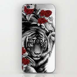 Tiger and Roses iPhone Skin