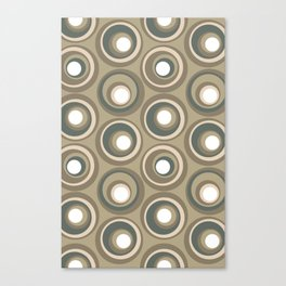 Signet Studio Geometric Circle Pattern - Flannel Canvas Print