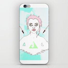 Acid Girl iPhone Skin