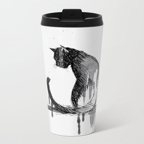 Here, Kitty Cat! Metal Travel Mug