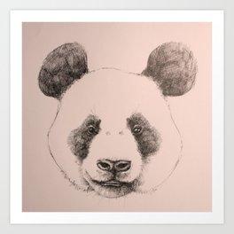pink panda Art Print