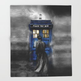 Tardis doctor who lost in the Mist apple iPhone 4 4s 5 5s 5c, ipod, ipad, pillow case and tshirt Throw Blanket