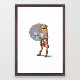 Hipster Mom Framed Art Print