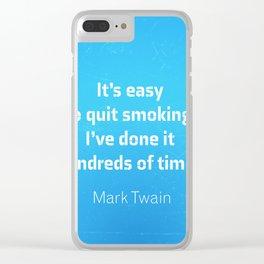 Mark Twain. Smoking Clear iPhone Case