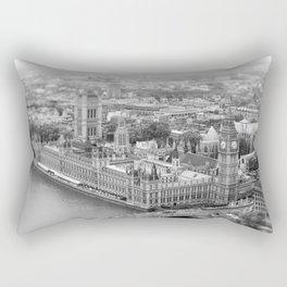 London of Grey Winter Rectangular Pillow
