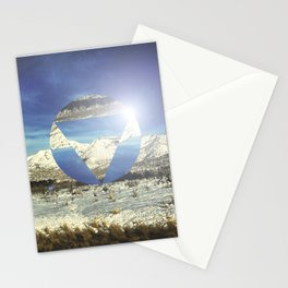 Snowy Earth Stationery Cards