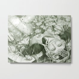 Backyard Bathtub Metal Print