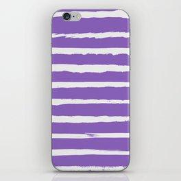 Irregular Hand Painted Stripes Purple iPhone Skin