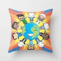 THE WORLD ROBOTIC Throw Pillow