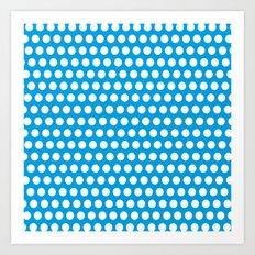 ligth blue points Art Print
