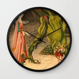 Green Dragon Wall Clock