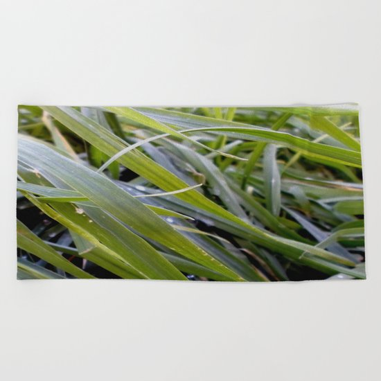 water and greenery Beach Towel
