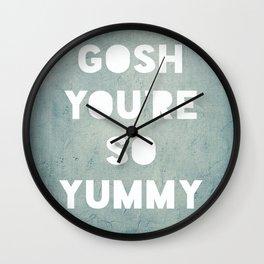 Gosh (Yummy) Wall Clock