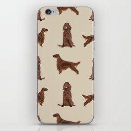 Irish Setter dog breed pet pattern gifts for irish setters iPhone Skin