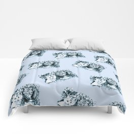 Blue Baby Cats Comforters