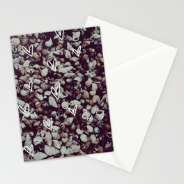 charcoal seashell pattern Stationery Cards