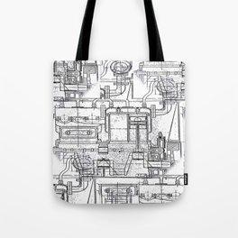Engineered Sketch Tote Bag