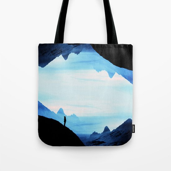 Blue Wasteland Isolation Tote Bag