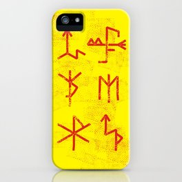 Runes iPhone Case