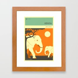 KENYA TRAVEL POSTER Framed Art Print