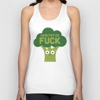 vegetarian Tank Tops featuring Raw Truth by David Olenick