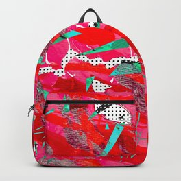 Groovy Red & Pink Backpack
