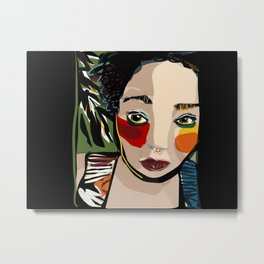 Girl in the jungle Metal Print