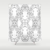 crystals Shower Curtains featuring Crystals by Cat Willett