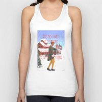 will ferrell Tank Tops featuring Christmas Cheer / Elf by Earl of Grey