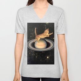 Cat.In.Space. Unisex V-Neck