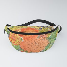 Orange Flowers Fanny Pack