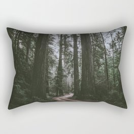 Redwoods Road Rectangular Pillow