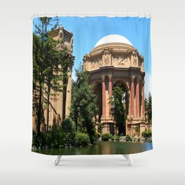 View Over The Lagoone To The Palace Of Fine Arts - San Francisco Shower Curtain