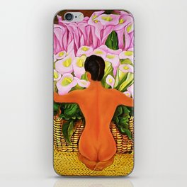 Nude with Calla Lilies by Diego Rivera iPhone Skin