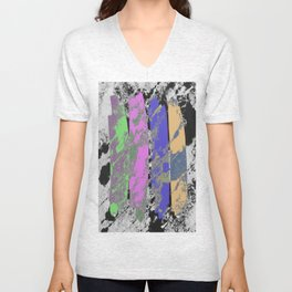 All 4 One - Abstract, textured artwork Unisex V-Neck