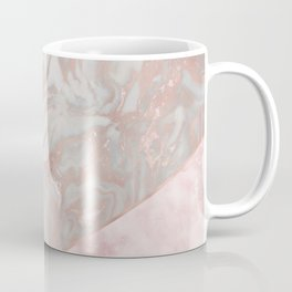Pink marble & french polished rose gold marble Coffee Mug