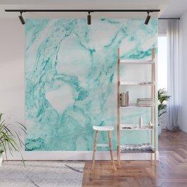 Teal Mermaid Glitter Marble Wall Mural