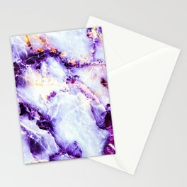 Abstract marble purple colorful Stationery Cards