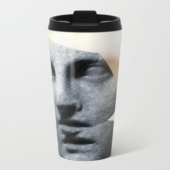 Untitled (Painted Composition 8) Metal Travel Mug