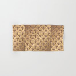 Art deco gold pattern. Abstract geometric crisscross. Golden luxury illustration. Vintage Art nouveau. Hand & Bath Towel
