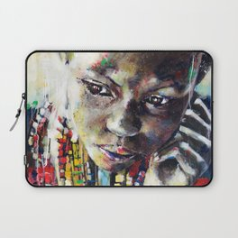 Reverie - Ethnic African portrait Laptop Sleeve