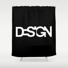 The black design Shower Curtain