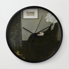 Whistler's Mother - Mr Bean Wall Clock