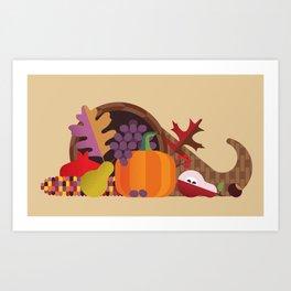 Fall Autumn Cornucopia Art Print